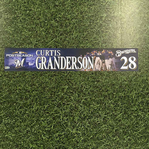 Photo of Curtis Granderson 2018 Game-Used Postseason (NLDS) Locker Nameplate