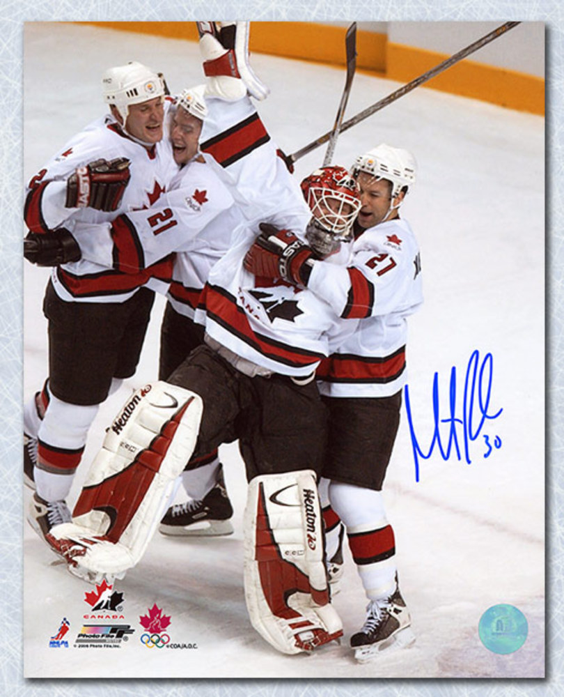 Martin Brodeur Team Canada Autographed 2002 Gold Medal Celebration