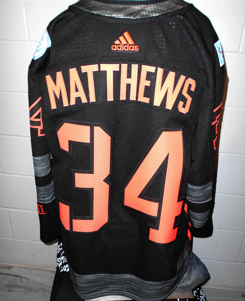 new styles 09a46 bddd9 Auston Matthews Toronto Maple Leafs Game-Worn Home World Cup ...