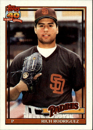 Photo of 1991 Topps #573 Rich Rodriguez UER RC/Stats say drafted 4th,/but bio says 9th round