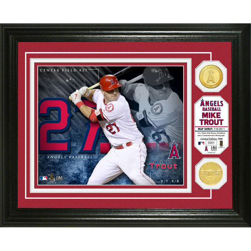 Serial #1! Mike Trout Bronze Coin Photo Mint