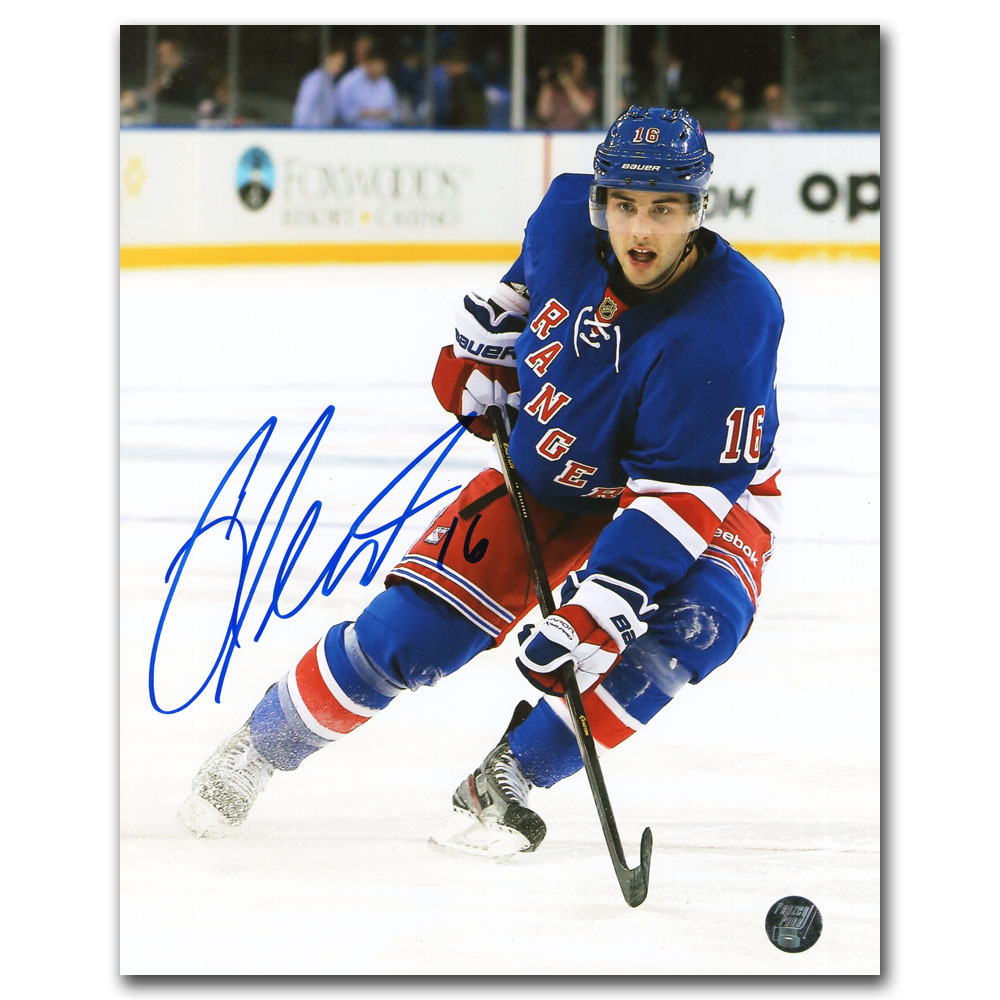 Derick Brassard Autographed New York Rangers 8X10 Photo
