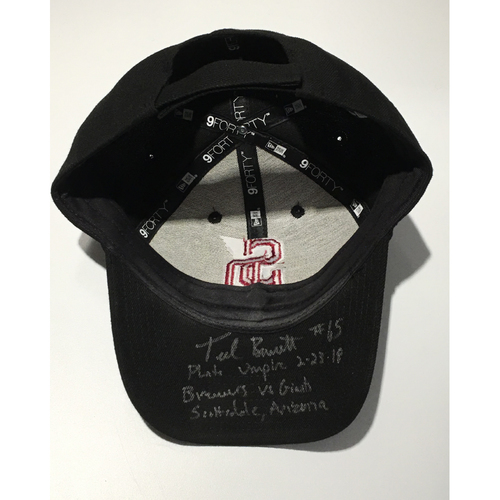 Photo of MiLB Umpire Ted Barrett Autographed, Game-Used Adjustable Stoneman Douglas Cap - NOT MLB Authenticated
