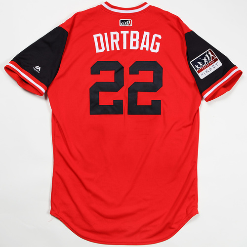 "Photo of Jason ""Dirtbag"" Kipnis Cleveland Indians Game-Used Jersey 2018 Players' Weekend Jersey"