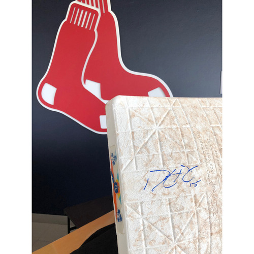 Photo of Autographed 2nd Base signed by Dustin Pedroia - Not MLB Authenticated