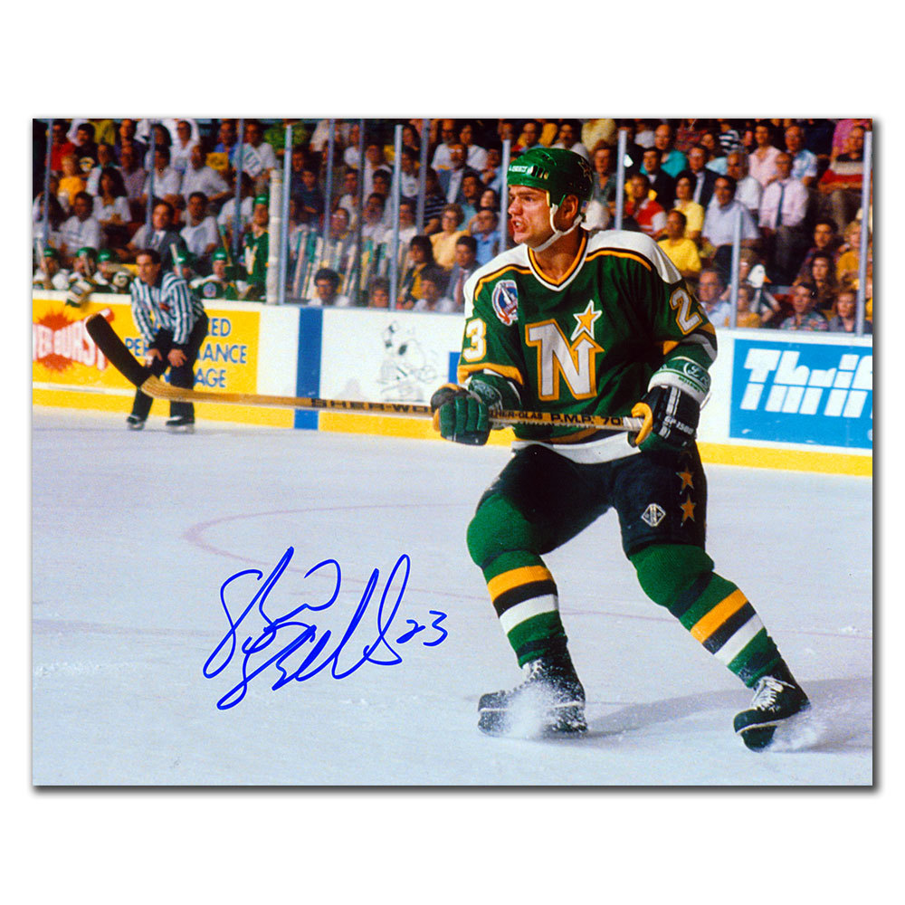 Brian Bellows Minnesota North Stars STANLEY CUP FINALS Autographed 8x10