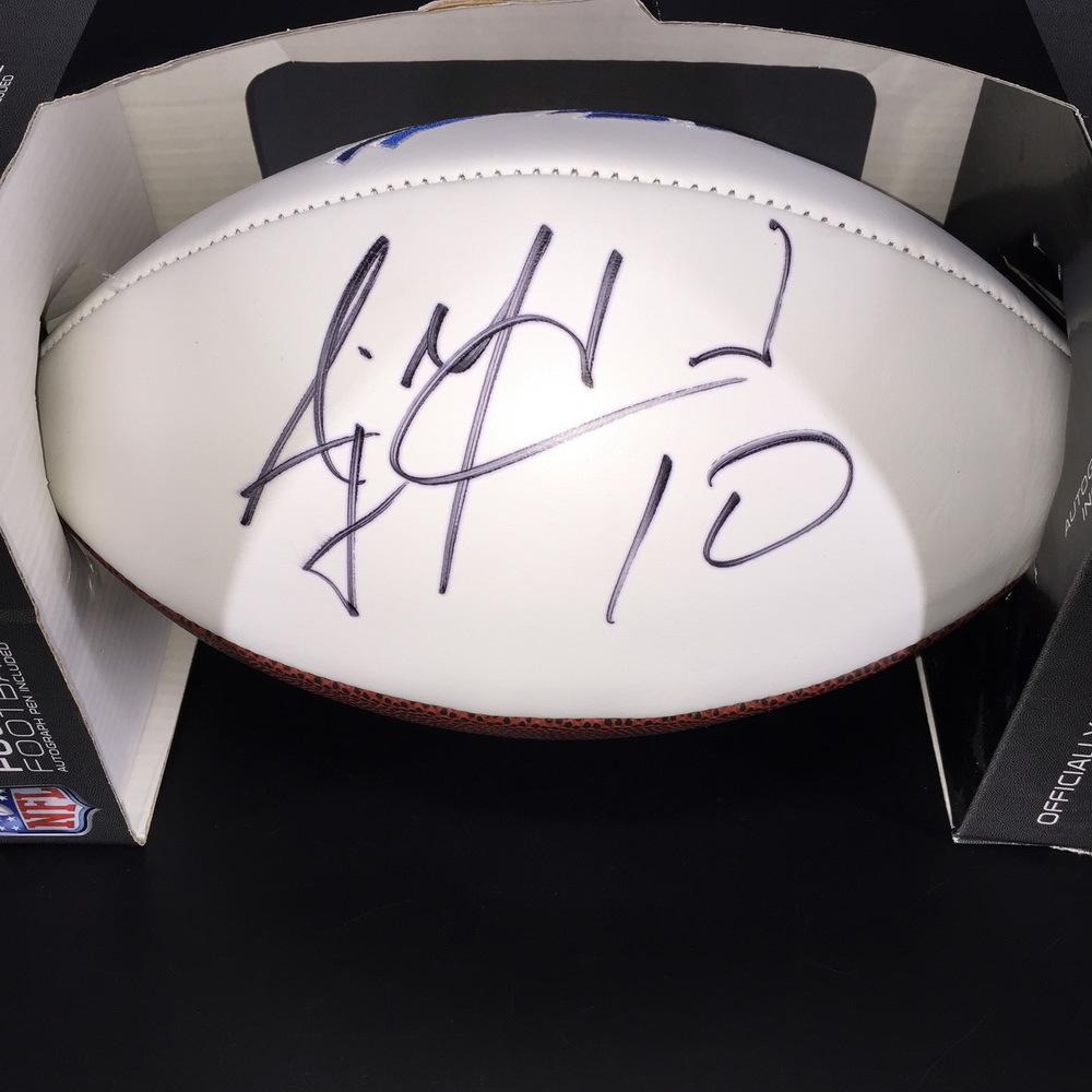 Bills - AJ McCarron Signed Panel Ball w/ Bills Logo