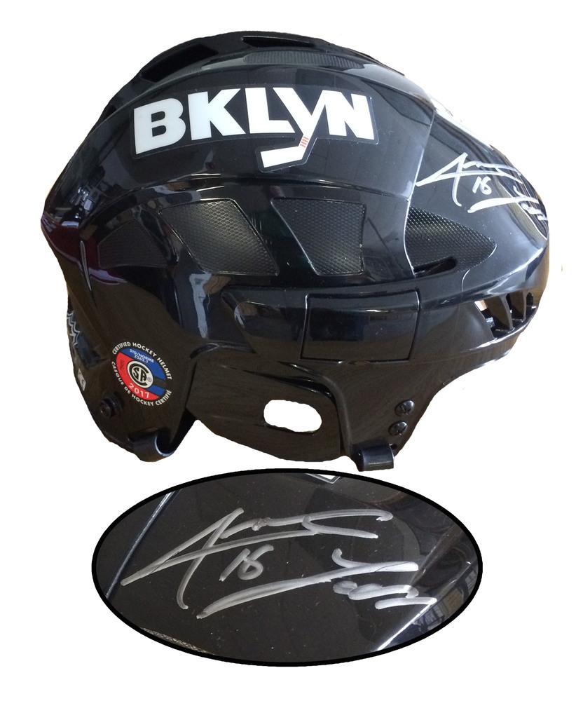 Andrew Ladd Signed Helmet Black CCM