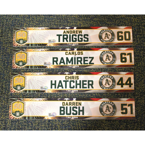 Photo of Andrew Triggs, Carlos Ramirez, Chris Hatcher & Darren Bush 2018 4th of July Locker Nameplates