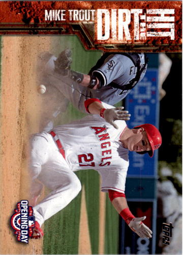 Photo of 2015 Topps Opening Day Hit the Dirt #HTD04 Mike Trout
