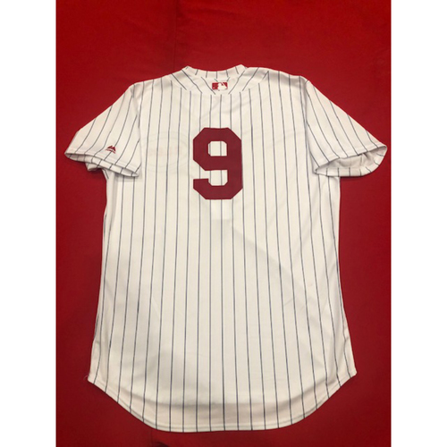 Photo of Jose Peraza -- Game-Used Jersey -- 1919 Throwback Game -- Nationals vs. Reds on June 2, 2019 -- Jersey Size 46