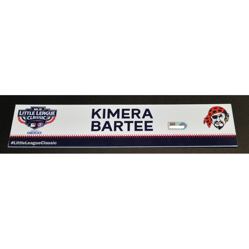 Photo of 2019 Little League Classic - Game Used Locker Tag - Kimera Bartee,  Chicago Cubs at Pittsburgh Pirates - 8/18/2019