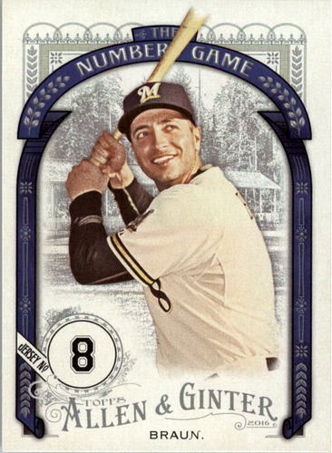 Photo of 2016 Topps Allen and Ginter The Numbers Game #NG55 Ryan Braun