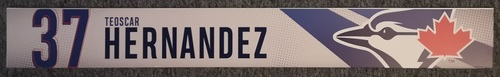 Photo of Authenticated Game Used Locker Name Plate: #37 Teoscar Hernandez (2019 Regular Season)