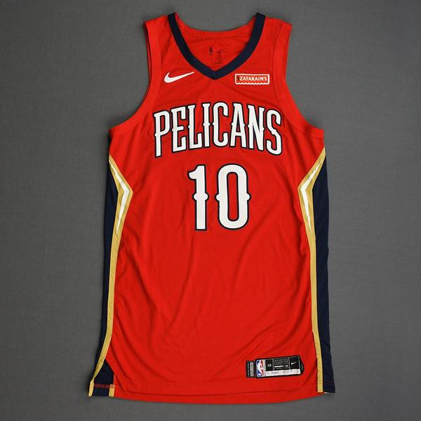Image of Jaxson Hayes - New Orleans Pelicans - Christmas Day' 19 - Game-Worn Statement Edition Jersey