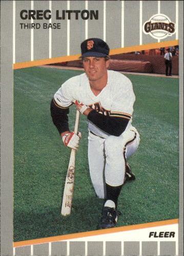 Photo of 1989 Fleer Update #130 Greg Litton