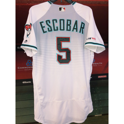 Photo of Eduardo Escobar Game-Used Jersey - 8/6/19 vs. Phillies & 8/20/19 vs. Rockies; HR, 3B, 5RBI; Size 42