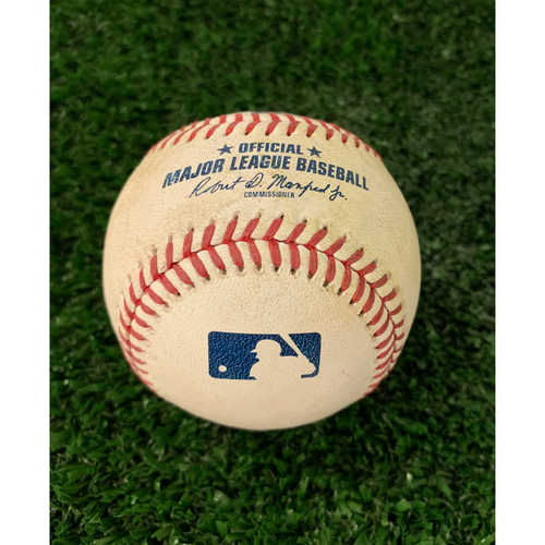 Photo of Johan Camargo Game Used Hit Double Baseball - April 16, 2019