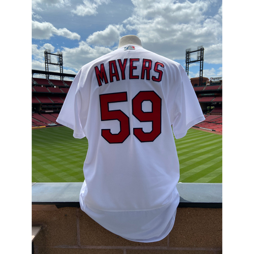 Photo of Cardinals Authentics: Game Worn Mike Mayers Home White Cardenales Jersey