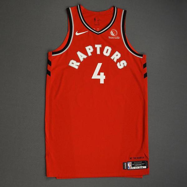 Image of Rondae Hollis-Jefferson - Toronto Raptors - Game-Worn Icon Edition Jersey - NBA Japan Games - 2019-20 NBA Season