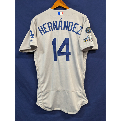 "Photo of Enrique ""Kiké"" Hernandez Team Issued 2019 Postseason Road Jersey"