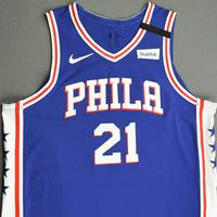 Joel Embiid - Philadelphia 76ers - Game-Worn Icon Edition Jersey - Recorded a 41 Point Double-Double - 2nd Half - 2019-20 NBA Season Restart
