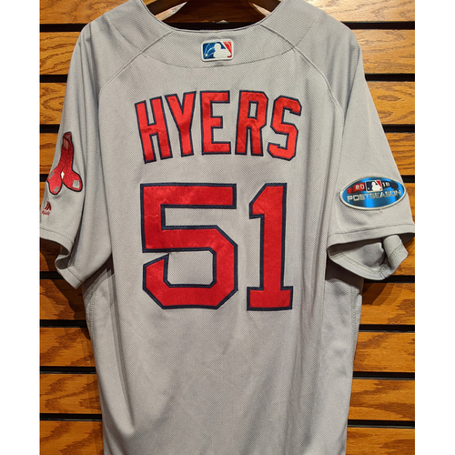 Photo of 2018 Postseason Coach Tim Hyers #51 Team Issued Road Gray Jersey