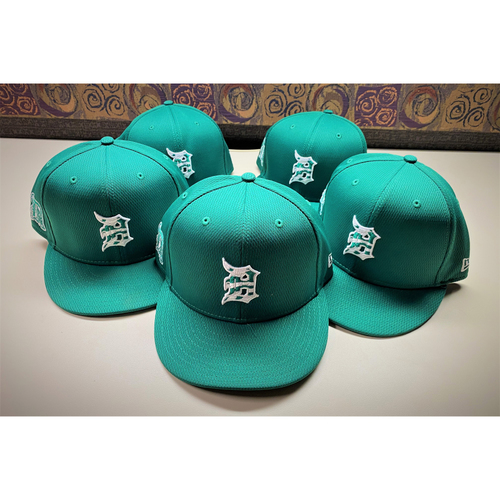 Photo of Detroit Tigers 2021 St. Patrick's Day Game-Used Green Cap Collection #2: Skubal, Mazara, Greiner, H. Castro, and Cruz Jr. (MLB AUTHENTICATED)