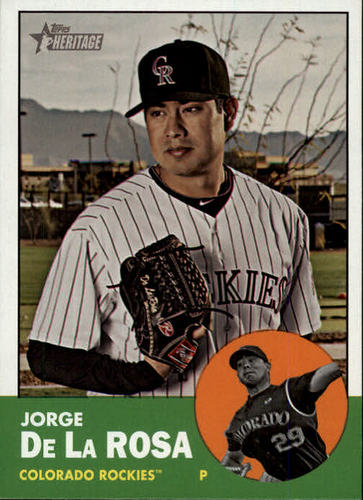Photo of 2012 Topps Heritage #332 Jorge De La Rosa