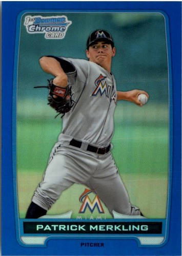 Photo of 2012 Bowman Chrome Draft Draft Picks Blue Refractors #BDPP136 Patrick Merkling