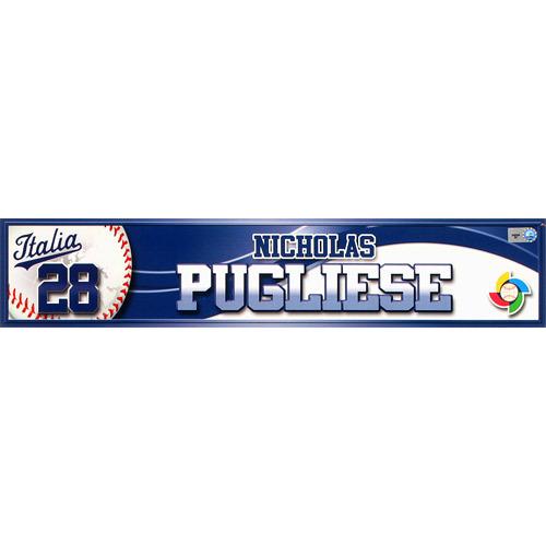 Photo of 2013 World Baseball Classic: Nicholas Pugliese (ITA) Game-Used Locker Name Plate