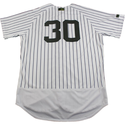Photo of Giovanny Gallegos New York Yankees Team-Issued #30 Memorial Day Weekend Pinstripe Jersey (5/28/2017) (Size 46)