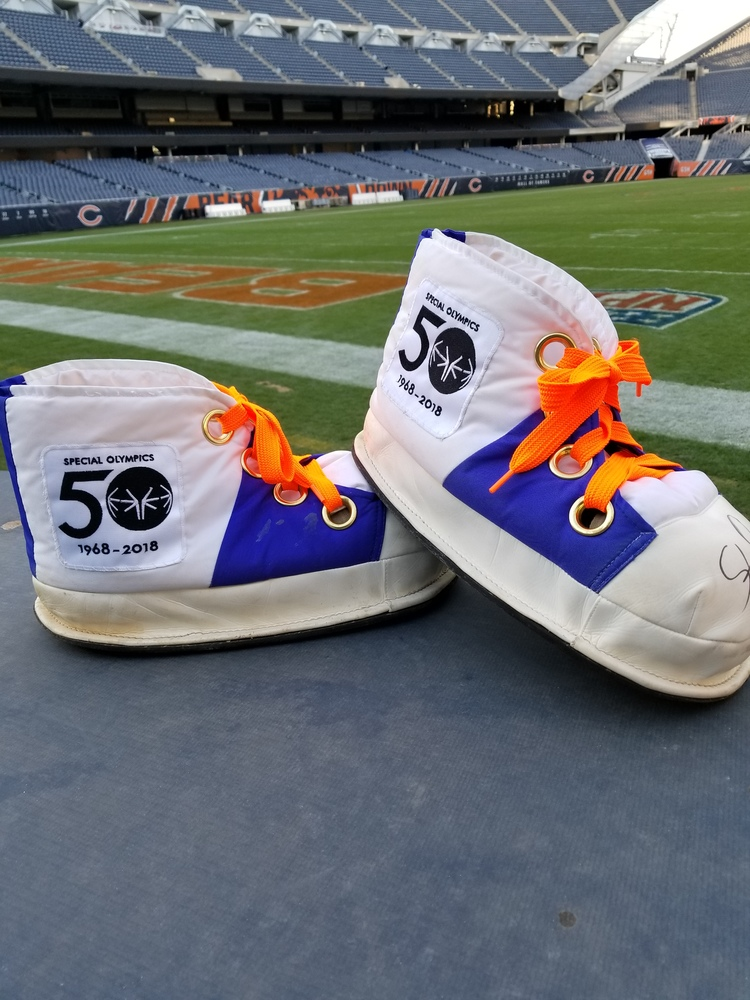 MY CAUSE MY CLEATS - Chicago Bears Staley Da Bear Game Worn MASCOT SHOES (Week 13 2017)