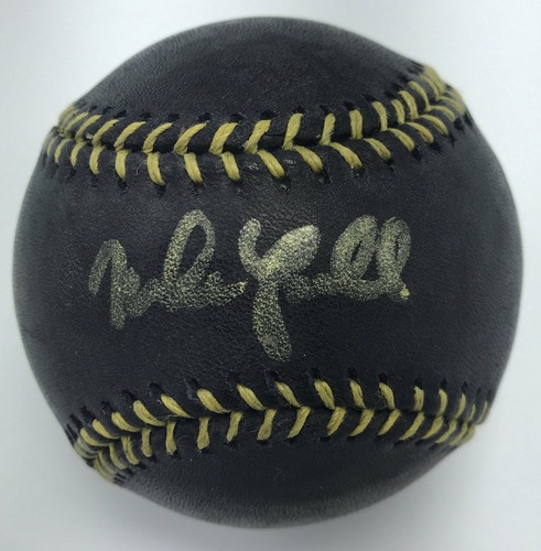 Photo of Mike Lowell Autographed Black Baseball