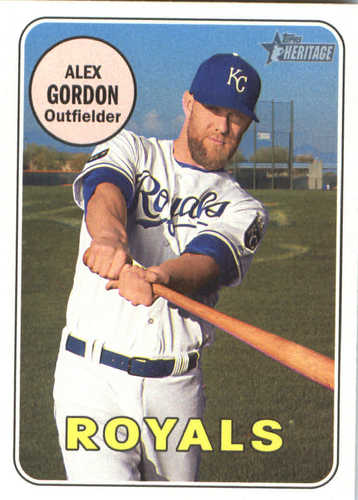 Photo of 2018 Topps Heritage #386 Alex Gordon
