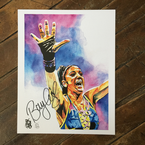 Photo of Bayley SIGNED 11 x 14 Rob Schamberger Print