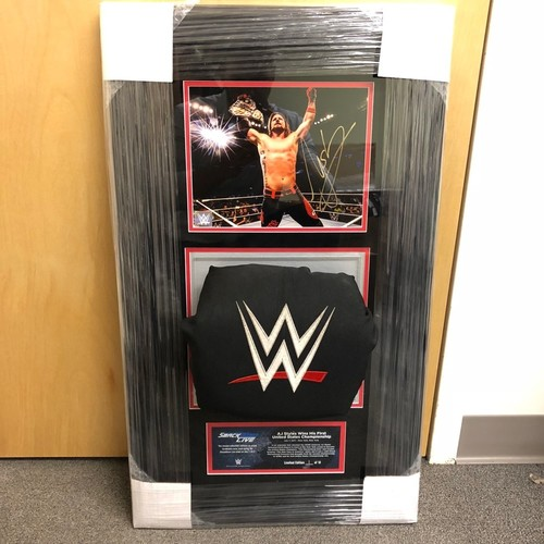 Photo of AJ Styles SIGNED SmackDown Photo & Used Turnbuckle Commemorative Plaque (#1 of 10)
