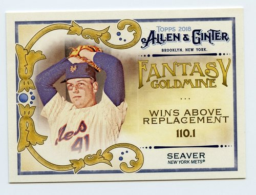 Photo of 2018 Topps Allen and Ginter Fantasy Goldmine #FG37 Tom Seaver