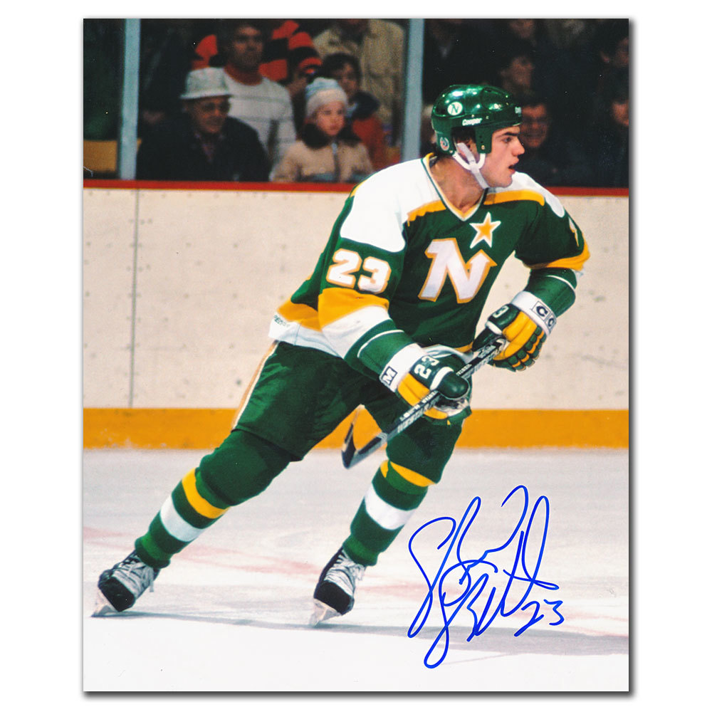 Brian Bellows Minnesota North Stars RUSH Autographed 8x10