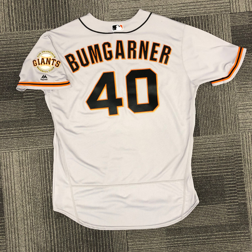 Photo of San Francisco Giants - 2018 Holiday Deal! - 2017 Team Issued Road Jersey - #40 Madison Bumgarner - size 50