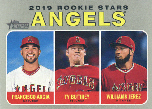 Photo of 2019 Topps Heritage #244 Ty Buttrey RC/Francisco Arcia RC/Williams Jerez RC