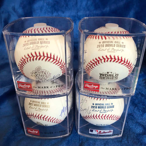 Photo of UMPS CARE AUCTION: World Series Crew Signed Baseball Package
