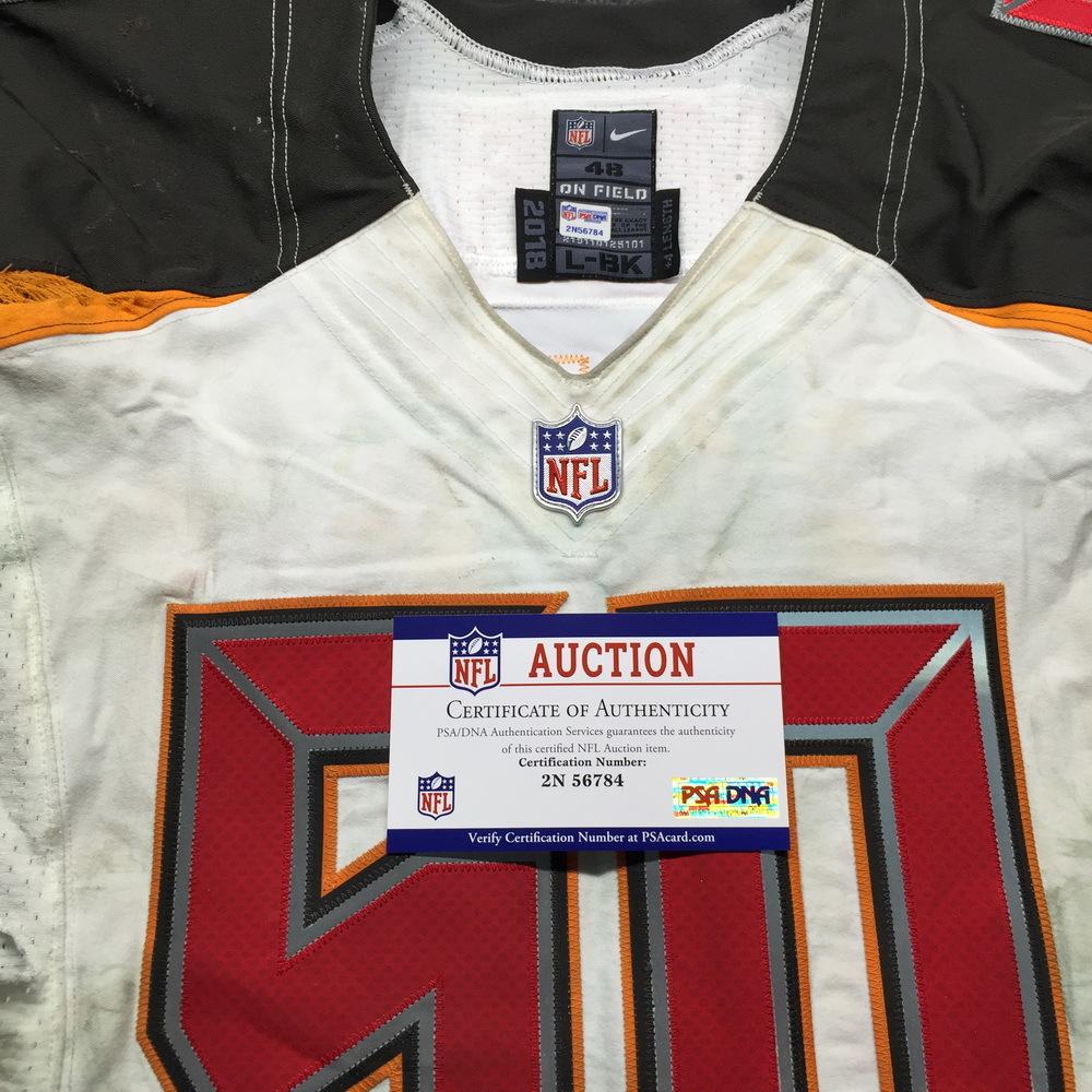 best cheap 8be99 e3c29 NFL Auction | Crucial Catch - Buccaneers Vita Vea Game Used ...