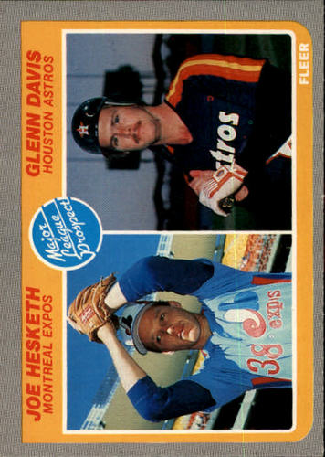 Photo of 1985 Fleer #652 Joe Hesketh RC/Glenn Davis RC