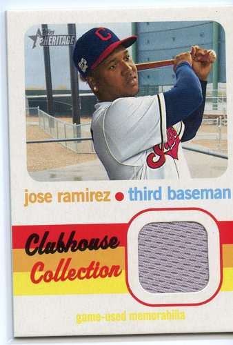 Photo of 2020 Topps Heritage Clubhouse Collection Relics #CCRJR Jose Ramirez