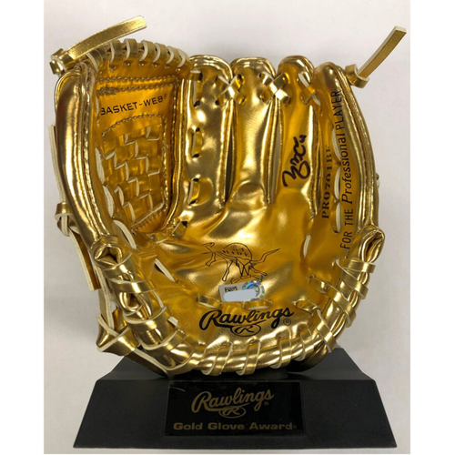 Photo of Cardinals Authentics: Yadier Molina Autographed Mini Gold Glove