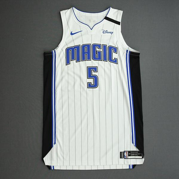 Image of Mo Bamba - Orlando Magic - Game-Worn Association Edition Jersey - 2019-20 NBA Season Restart with Social Justice Message