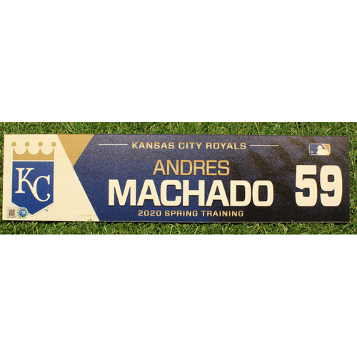 Photo of Game-Used 2020 Spring Training Locker Tag: Andres Machado #59