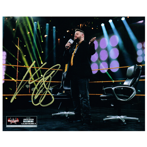 Photo of Kevin Owens SIGNED WrestleMania 37 Exclusive 8x10 Photo (Random Number)