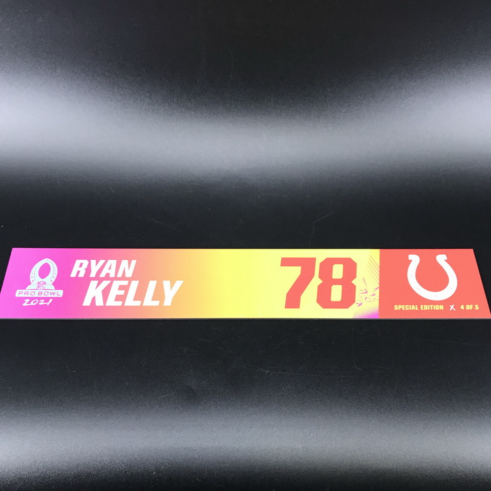 NFL - Colts Ryan Kelly 2021 Pro Bowl Locker Nameplate Special Edition #4 of 5